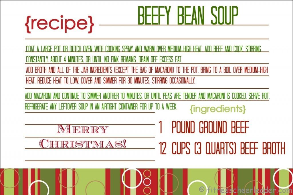 Beefy Bean Soup Mix in a Jar: A Fabulous (Healthy) Gift for Teachers #teachergift #christmas #jargift via @fitcheerldr