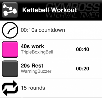 Gymboss kettlebell workout