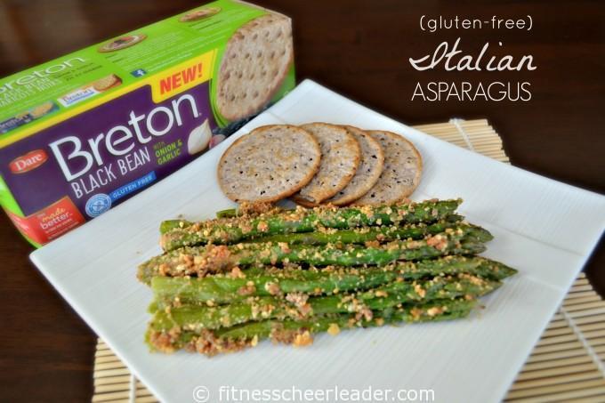 Gluten-free Italian Asparagus made with Breton Bean with Onion & Garlic crackers #BretonBean