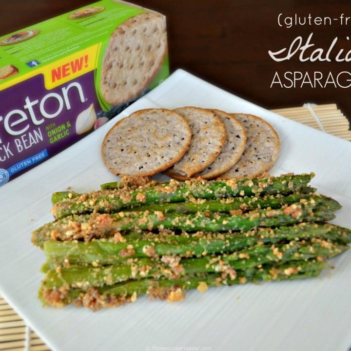 Gluten-free Italian Asparagus made with Breton Bean with Onion & Garlic crackers #Easy #Recipe