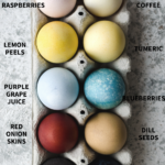 Photo of egg carton showing 12 natural easter eggs