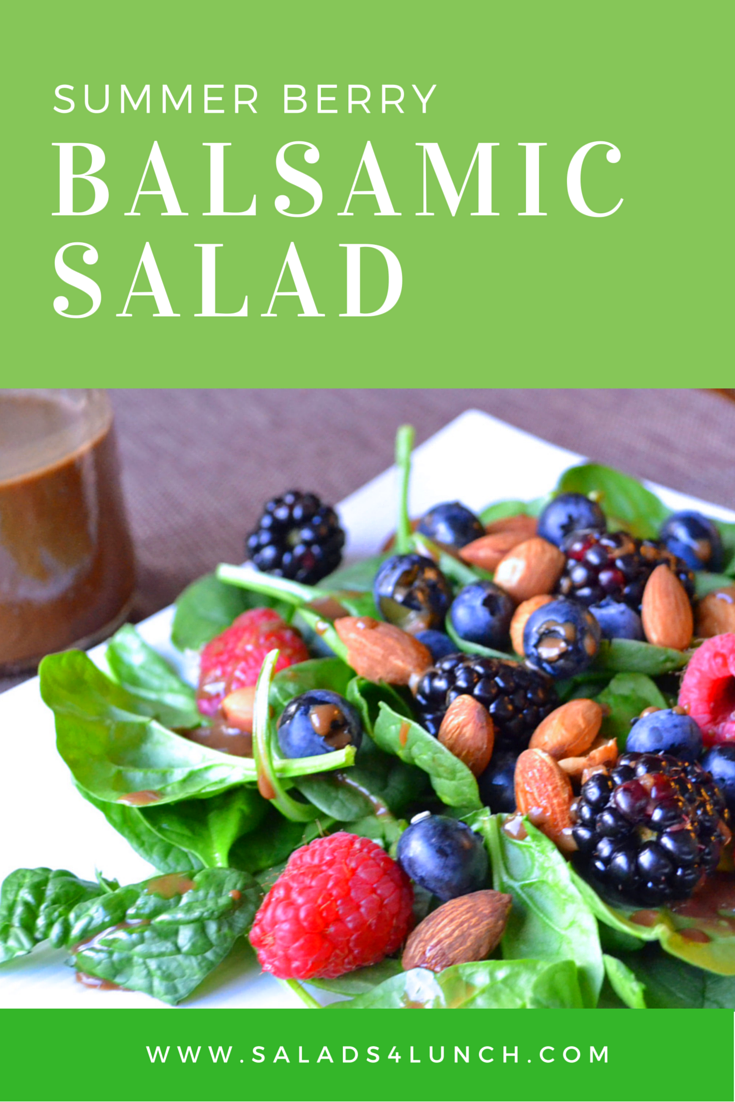 Summer berry balsamic salad - A delicious summer salad chock full of antioxidants.