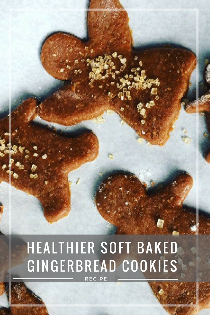 Healthier soft baked gingerbread cookies