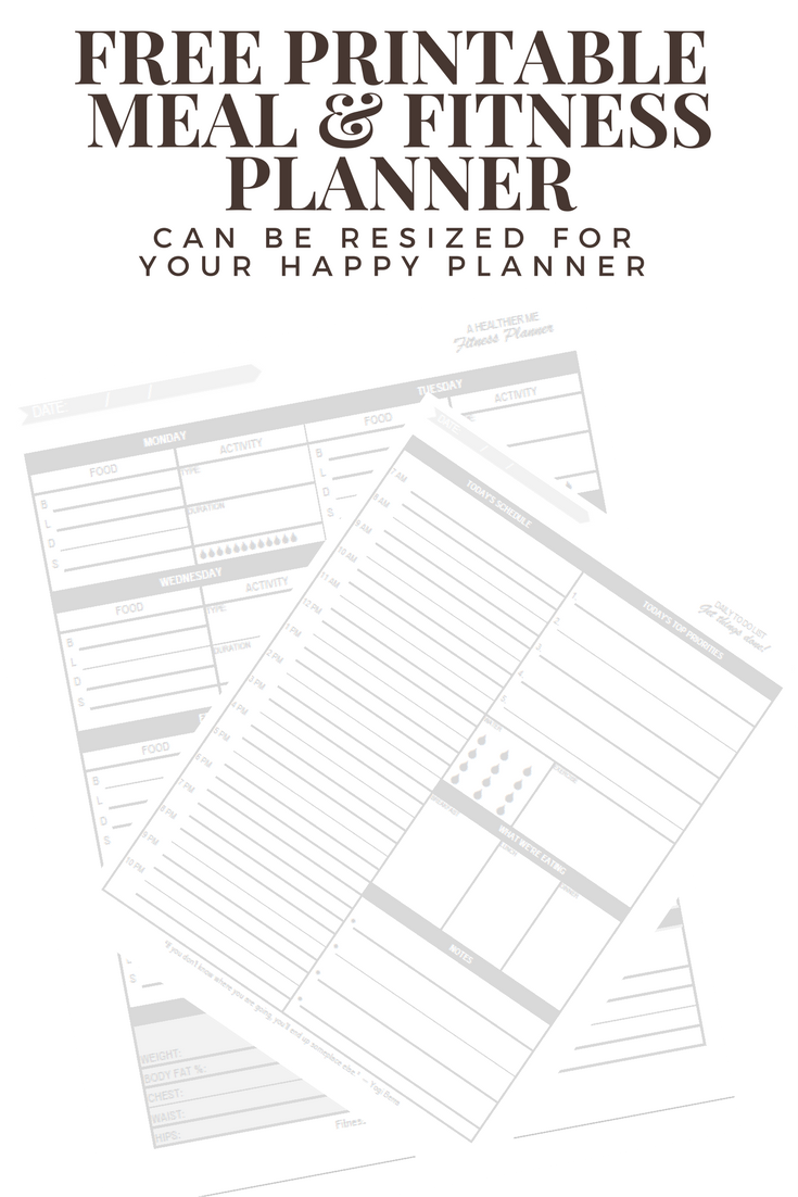 Andrea Nicole: Free Printable Fitness Planner Sticker