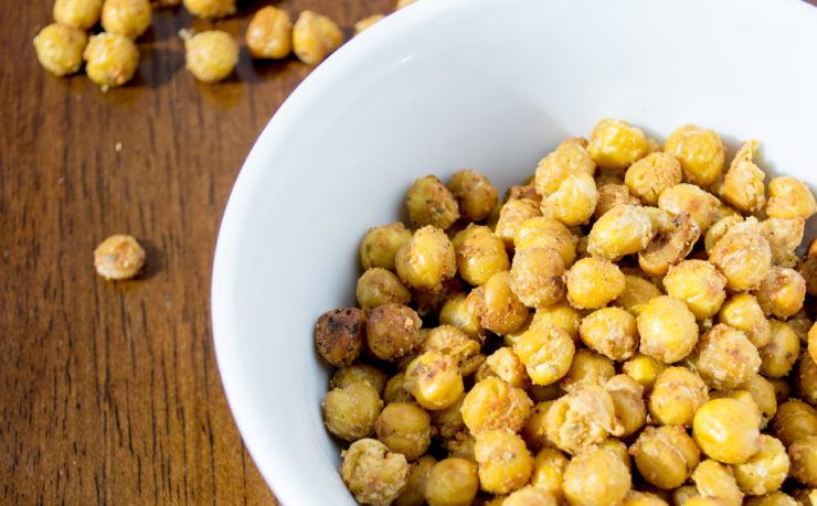 Roasted Chickpea Croutons