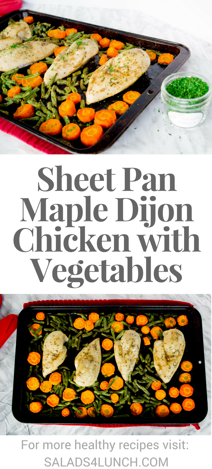 Sheet Pan Maple Dijon Chicken with Vegetables