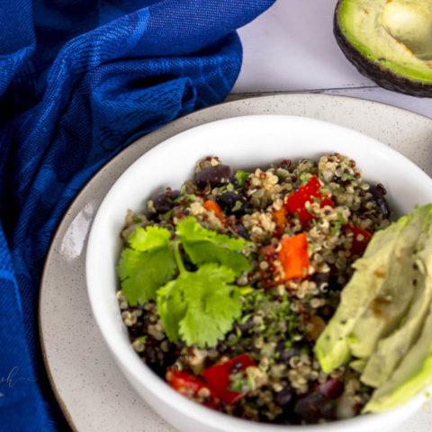 Black Bean Spicy Lime Quinoa Salad