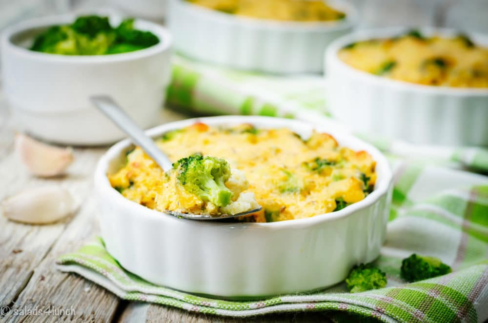 This Millet Broccoli Cheese Casserole is gonna rock your world! It's super easy for a quick weeknight dinner or healthy lunch with only a few ingredients plus spices!