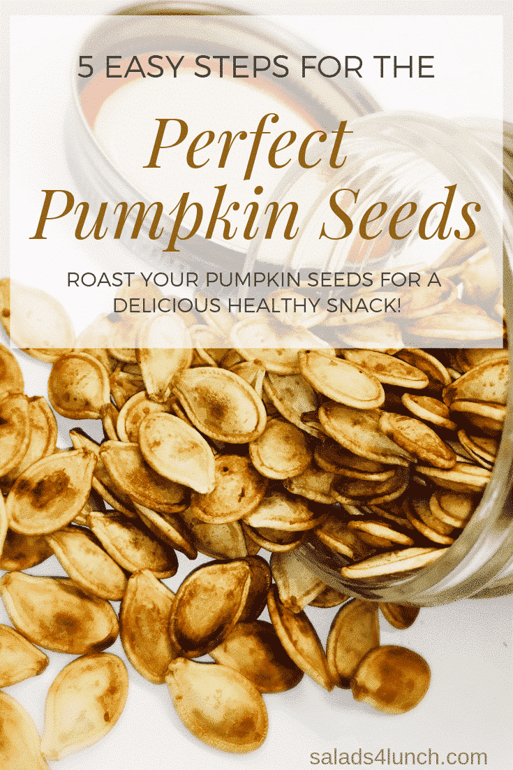 I'll let you in on a secret.... the perfect roasted pumpkin seeds is not in the baking, instead it's in the steps you take before the baking. These are the 5 easy steps for the perfect roasted pumpkin seeds. #pumpkinseeds #halloweentreats #halloween