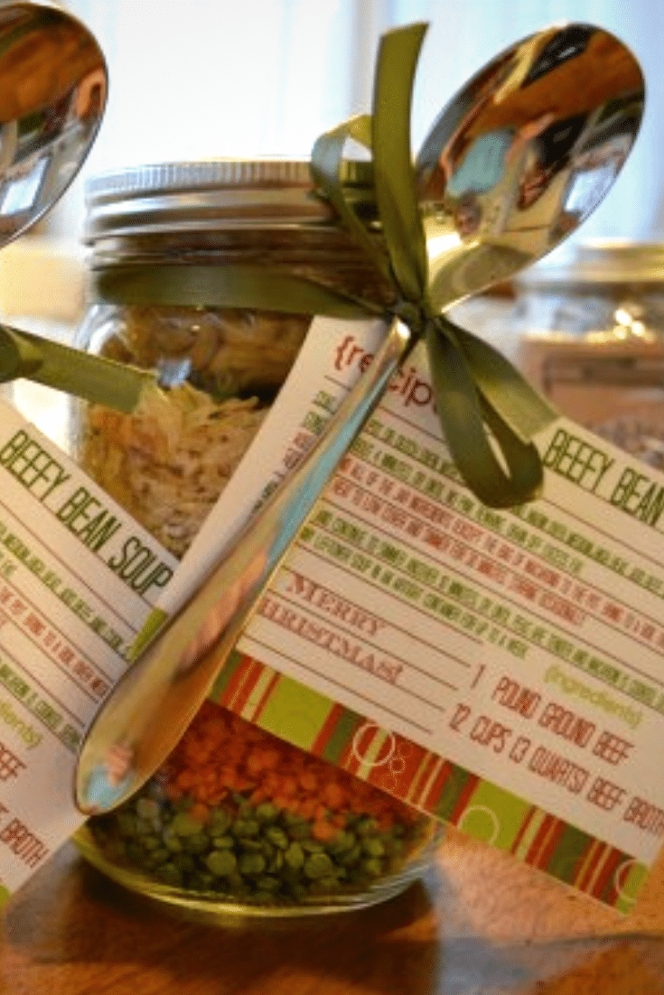 Beefy Bean Soup Mix in a Jar - a fabulous DIY gift for Teachers