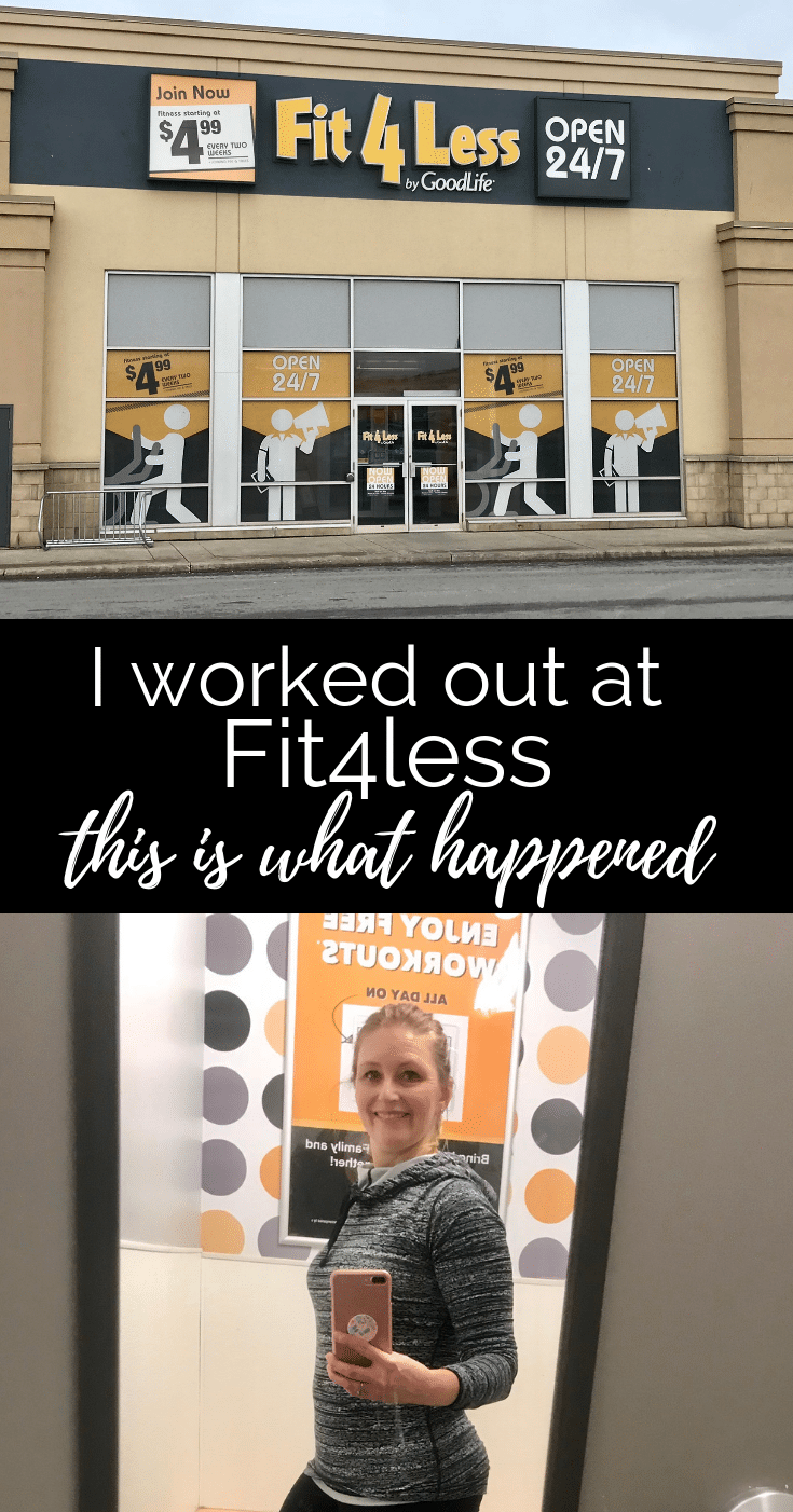 I worked out at Fit4less, this is what happened