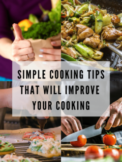 If you're struggling with your cooking, today I'm sharing 5 simple cooking tips on how you can improve your cooking overnight. With a little bit of practice, you too can become as proficient in the kitchen. #cookingtips