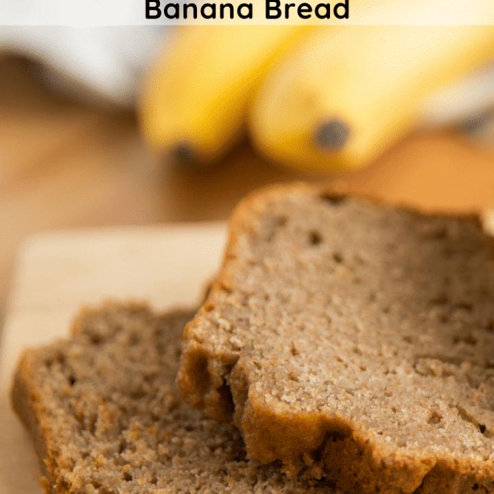 Sliced Banana Bread on a plate