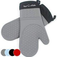 Grey Silicone Oven Hot Mitts