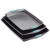 Rachael Ray Nonstick Bakeware Cookie Pan Set, 3-Piece