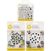 Wilton Halloween Assorted Candy Eyeballs Set, 3-Packs