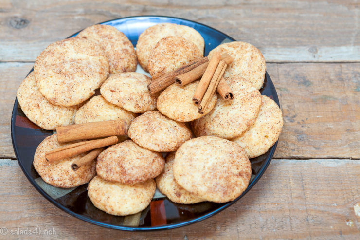 Easy soft, chewy and irresistible homemade snickerdoodle cookies with the classic cinnamon sugar coating are made in five easy steps, read on to find out how! Bake up a batch of these snicker doodle cookies for an easy Christmas cookie your whole family will love!