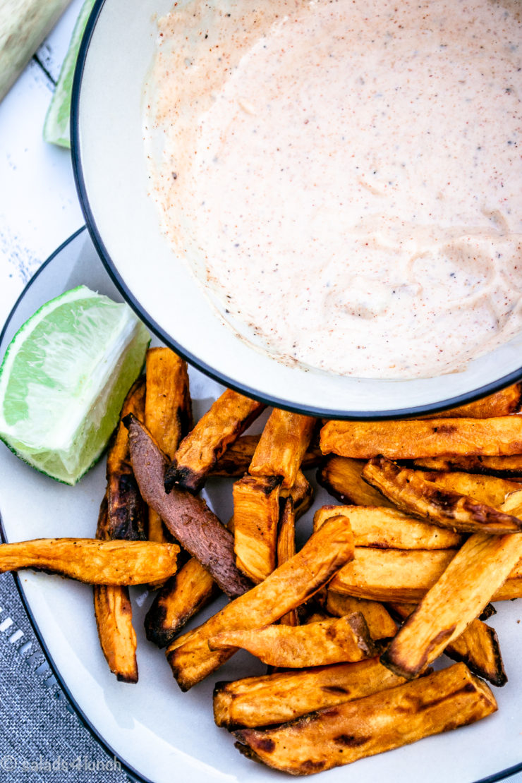 Chipotle Mayo Dip with Sweet Potato Fries