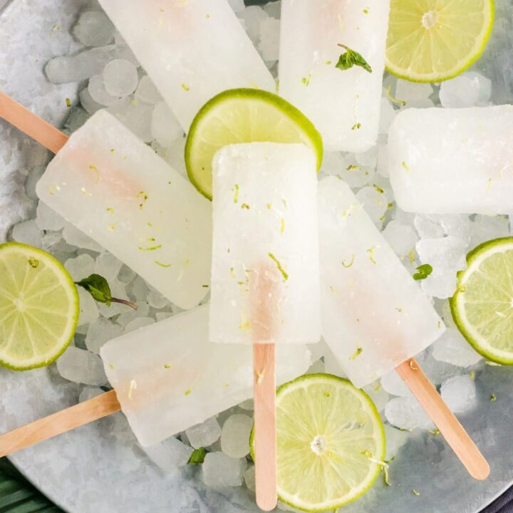 Fresh and Healthy Limeade Popsicles